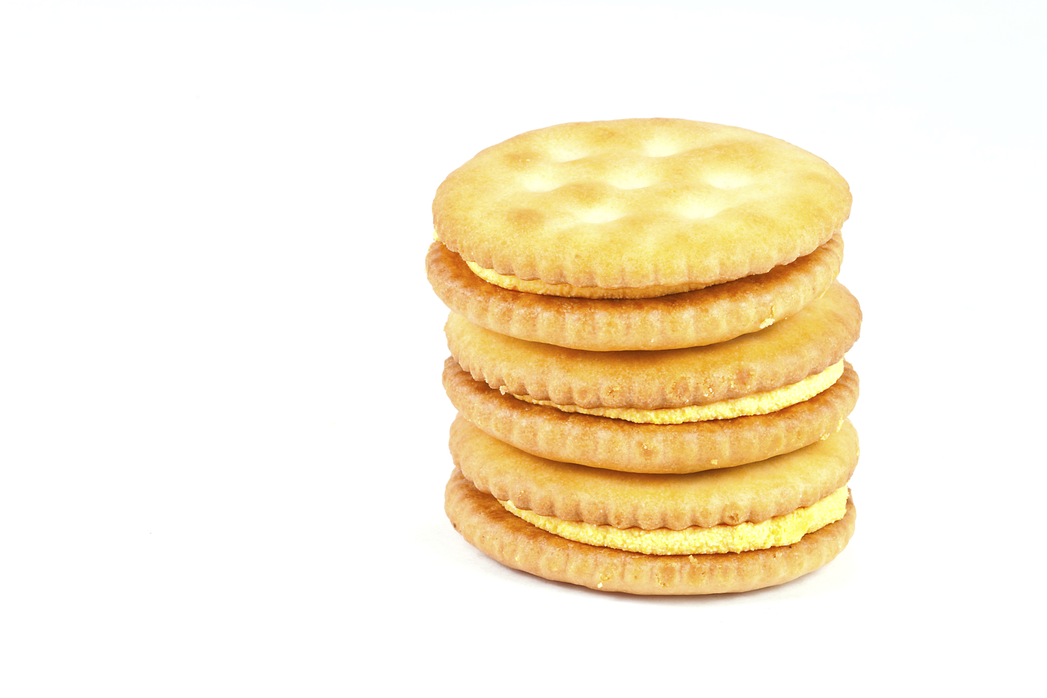 cheese cracker pile